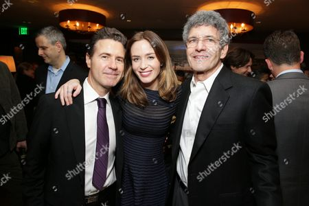 "EXCLUSIVE - Cinematographer Dion Beebe, Emily Blunt joined Alan Horn, Chairman of Walt Disney Studios, hosted a holiday gathering celebrating ""Into the Woods"" on Wednesday, December 17 in Los Angeles, CA. The humorous and heartfelt musical, that has been nominated for 3 golden globe awards including Best Picture opens in theaters nationwide on"