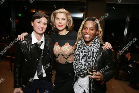 """EXCLUSIVE - Kimberly Peirce, Christine Baranski and guest joined Alan Horn, Chairman of Walt Disney Studios, hosted a holiday gathering celebrating """"Into the Woods"""" on Wednesday, December 17 in Los Angeles, CA. The humorous and heartfelt musical, that has been nominated for 3 golden globe awards including Best Picture opens in theaters nationwide on"""
