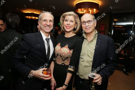 """EXCLUSIVE - Producer John DeLuca, Christine Baranski and Screenwriter James Lapine joined Alan Horn, Chairman of Walt Disney Studios, hosted a holiday gathering celebrating """"Into the Woods"""" on Wednesday, December 17 in Los Angeles, CA. The humorous and heartfelt musical, that has been nominated for 3 golden globe awards including Best Picture opens in theaters nationwide on"""