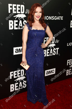 """Erin Cummings attends the premiere screening of AMC's new series, """"Feed The Beast"""", at the Angelika Film Center, in New York"""