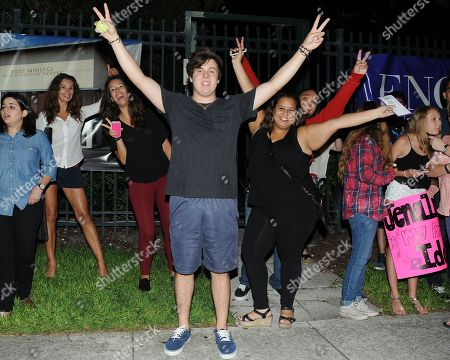 Stock Image of EXCLUSIVE IMAGE Alex Preston meets fans following American Idols Live! 2014 at the Broward Center for the Performing Arts on in Ft Lauderdale, Florida. (Photo by