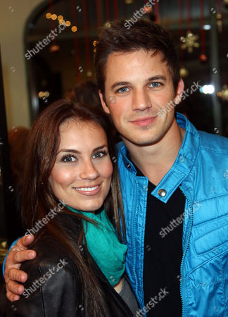 Stock Picture of Actor Matt Lanter, right, and Angela Stacey attend the Bath Bar by Kristina Vogel Flagship Store Grand Opening launch party, in Hermosa Beach, Calif
