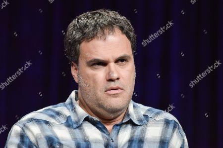 """Eduardo Sanchez speaks onstage at the """"The Game"""" portion of the BBC America 2014 Summer TCA, in Beverly Hills, Calif"""
