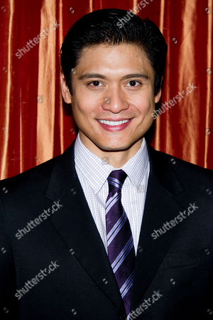 "Stock Image of Paolo Montalban attends a press event for the new Broadway adaptation of ""Breakfast at Tiffany's"" on in New York"
