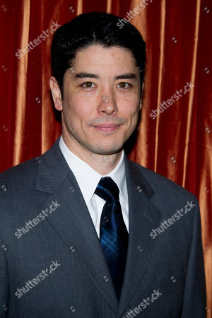 "James Yaegashi attends a press event for the new Broadway adaptation of ""Breakfast at Tiffany's"" on in New York"