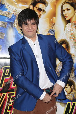 Stock Photo of Actor Vivaan Shah poses for photographers during a photo call for the film, Happy New Year-SLAM, at the Montcalm hotel in central London