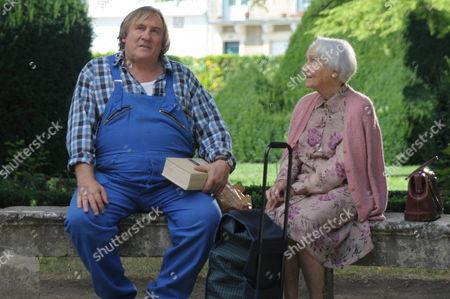 Stock Image of Gerard Depardieu, Gisele Casadesus