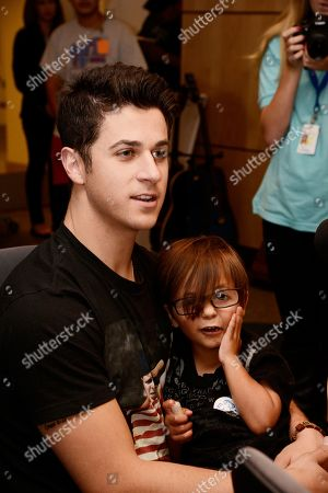 David Henrie from the upcoming inspirational movie Little Boy visits CHOC Children's Hospital, in Orange, CA. Little Boy in theaters April 24th