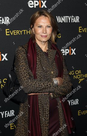 Maud Adams attends the premiere of Everything or Nothing: The Untold Story of 007 at The Museum of Modern Art on in New York