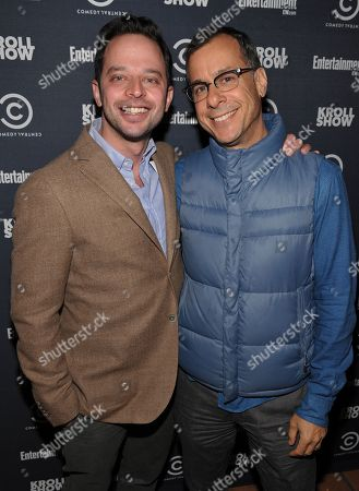 """Actor/comedian Nick Kroll, left, and Comedy Central's Head of Original Programming and Production Kent Alterman attend an exclusive screening of Comedy Central's """"Kroll Show"""" hosted by Entertainment Weekly on at LA's Silent Movie Theatre in Los Angeles"""