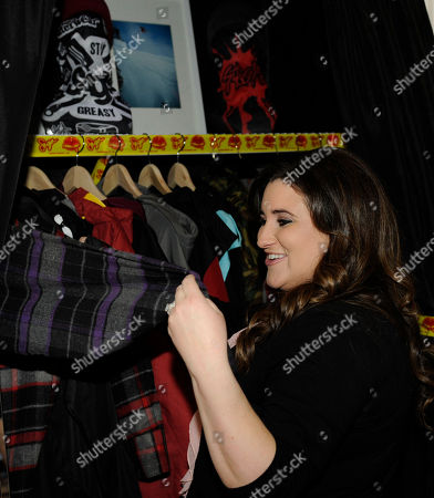 Actress KayCee Stroh visits Saga Outerwear at the Fender Music lodge during the Sundance Film Festival, in Park City, Utah