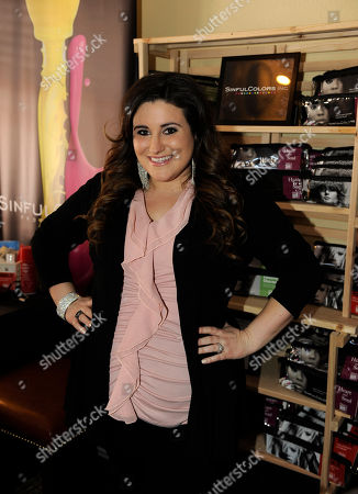 Actress KayCee Stroh visits the SinfulColors nail bar at the Fender Music lodge during the Sundance Film Festival, in Park City, Utah
