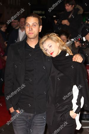 """Sarah Gadon and Brandon Cronenberg arrive at screening for """"Rust and Bone (De rouille et d'os)"""" during the London Film Festival at The Odeon, Leicester Square on in London UK"""
