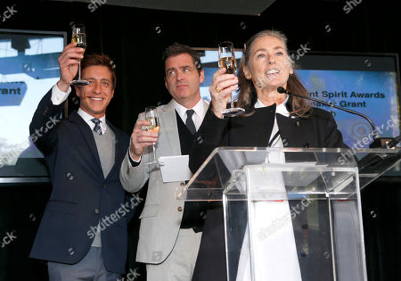 Film Independent Co-Presidents Sean Mc Manus and Josh Welsh and Film Independent Chair Mary Sweeney attend the Film Independent Spirit Awards Luncheon at BOA Steakhouse, in West Hollywood, Calif