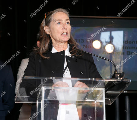Film Independent Chair Mary Sweeney attends the Film Independent Spirit Awards Luncheon at BOA Steakhouse, in West Hollywood, Calif
