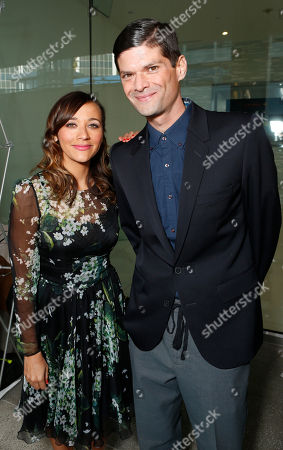 Rashida Jones and Will McCormack attend the Film Independent Spirit Awards Luncheon at BOA Steakhouse, in West Hollywood, Calif