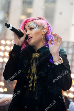 """Stock Picture of Stayc Reigns performs on NBC's """"Today"""" show on in New York"""
