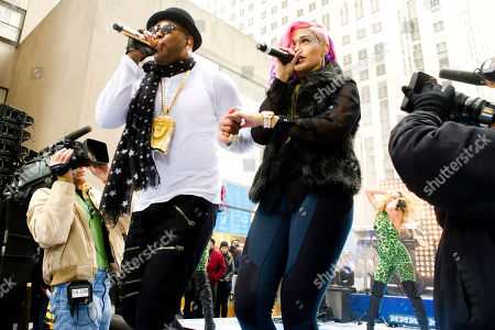 """Stock Photo of Flo Rida and Stayc Reigns perform on NBC's """"Today"""" show on in New York"""