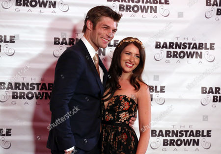 Liam McIntyre and Erin Hasan attends the G.H. Mumm Champagne event at the Barnstable Brown Gala, in Louisville, Ky