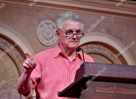 "John Irving speaks at a book discussion ""Avenue of Mysteries"" at Coral Gables Congregational Church on in Miami"