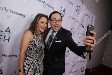 PJ Byrne and Event Co-Chair and Executive VP of Marketing at Warner Bros. Pictures Blair Rich seen at LA Family Housing Awards at The Lot, in Hollywood, CA