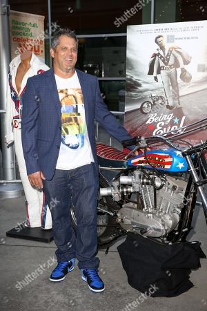 """Jeff Tremaine arrives at the LA Premiere of """"Being Evel"""" at ArcLight Cinemas, in Los Angeles"""