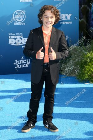"""Hayden Rolence arrives at the Premiere of """"Finding Dory"""" at the El Capitan Theatre, in Los Angeles"""