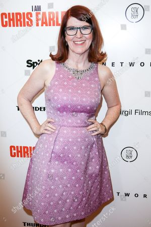 "Kate Flannery arrives at the LA Premiere of ""I Am Chris Farley"" at the Linwood Dunn Theater, in Los Angeles"
