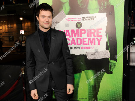 "Danila Kozlovsky, a cast member in ""Vampire Academy,"" poses at the premiere of the film, in Los Angeles"