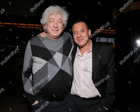 """Producer Avi Lerner and Tom Sizemore attend the Los Angeles Premiere of Millenium Entertainment's """"Reach Me"""" at Chinese 6 Theaters on in Los Angeles"""