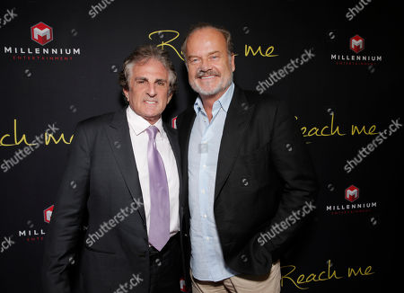 """Stock Image of Director John Herzfeld and Kelsey Grammer attend the Los Angeles Premiere of Millenium Entertainment's """"Reach Me"""" at Chinese 6 Theaters on in Los Angeles"""