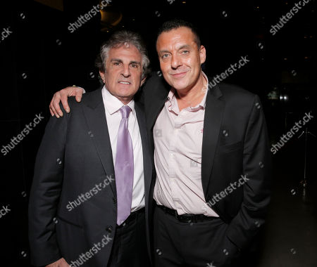 """Director John Herzfeld and Tom Sizemore attend the Los Angeles Premiere of Millenium Entertainment's """"Reach Me"""" at Chinese 6 Theaters on in Los Angeles"""