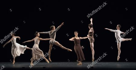 Editorial picture of 'The Illustrated 'Fairwell'' Dance choreographed by Twyla Tharp performed by the Royal Ballet at the Royal Opera House, London, UK, 03 Nov 2017