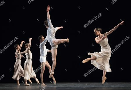 Editorial photo of 'The Illustrated 'Fairwell'' Dance choreographed by Twyla Tharp performed by the Royal Ballet at the Royal Opera House, London, UK, 03 Nov 2017