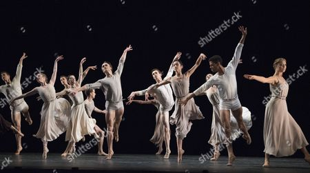 Editorial image of 'The Illustrated 'Fairwell'' Dance choreographed by Twyla Tharp performed by the Royal Ballet at the Royal Opera House, London, UK, 03 Nov 2017