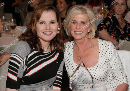 Geena Davis and Callie Khouri seen at the 3rd Annual Women Making History Brunch presented by the National Women's History Museum and Glamour Magazine at the Skirball Cultural Center, in Los Angeles, Calif