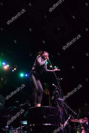 Aja Volkman of Nico Vega performs, at The Tabernacle, in Atlanta