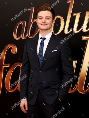 """Chris Colfer attends the premiere of """"Absolutely Fabulous: The Movie"""" at the SVA Theatre, in New York"""