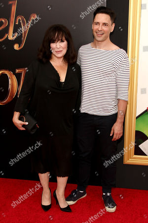 """Harriet Thorpe, left, and Sean Palmer, right, attend the premiere of """"Absolutely Fabulous: The Movie"""" at the SVA Theatre, in New York"""