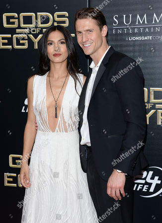 "Actress Elodie Yung and boyfriend Jonathan Howard attend the ""Gods of Egypt"" premiere at the AMC Loews Lincoln Square, in New York"