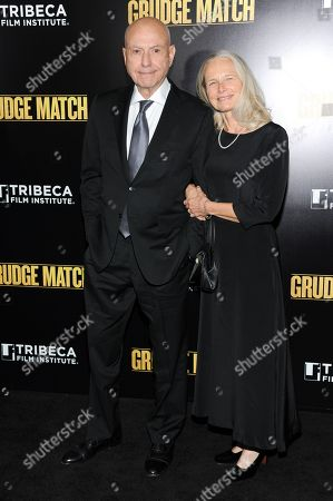 """Actor Alan Arkin and wife Suzanne Newlander Arkin attend the world premiere of """"Grudge Match"""", benefiting the Tribeca Film Institute, at the Ziegfeld Theatre on in New York"""