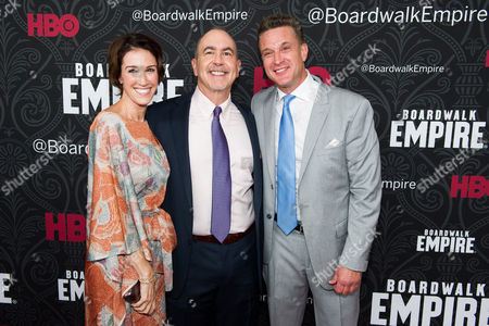 "Stock Picture of Rachel Winter, Terence Winter and Chris Caldovino attend the premiere for the final season of HBO's ""Boardwalk Empire"" on in New York"