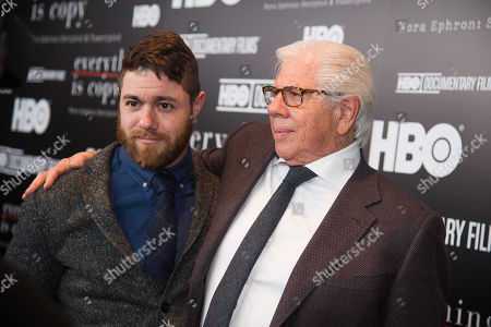 """Stock Photo of Jacob Bernstein, left, and Carl Bernstein attend a special screening of """"Everything Is Copy"""" at The Museum of Modern Art, in New York"""