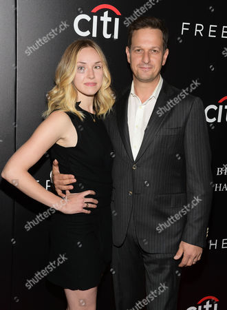 """Sophie Flack, left, and Josh Charles attend a special screening of """"Freeheld"""" at The Museum of Modern Art, in New York"""