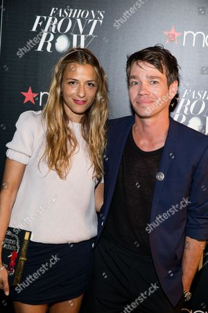 Charlotte Ronson, left, and Nate Ruess attend Macy's Presents Fashion's Front Row, in New York