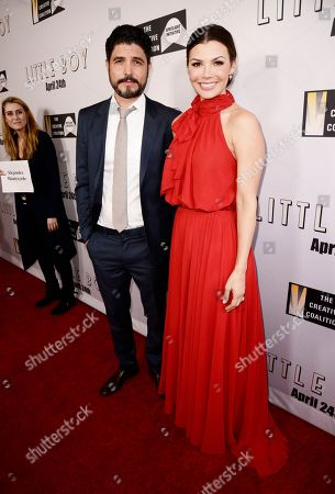 """Writer/Director/Producer Alejandro Monteverde and Ali Landry seen at Open Road Films Los Angeles Premiere of """"Little Boy"""" at Regal Cinemas LA Live Stadium 14 on Tuesday, April 14], 2015, in Los Angeles, CA"""