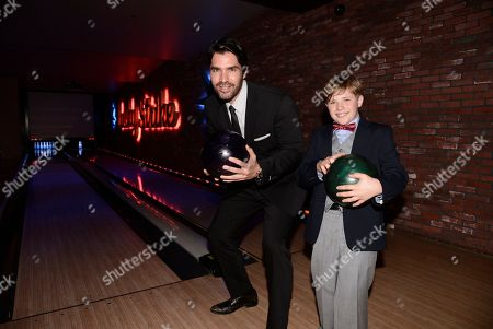 """Stock Picture of Eduardo Verastegui and Jakob Salvati seen at Open Road Films Los Angeles Premiere of """"Little Boy"""" at Regal Cinemas LA Live Stadium 14 on Tuesday, April 14], 2015, in Los Angeles, CA"""