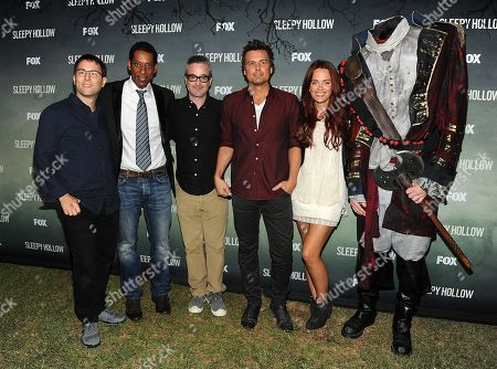 Left to right) Executive Producer Mark Goffman, actor Orlando Jones, Executive Producers Alex Kurtzman and Len Wiseman, and actor Katia Winter attend a special outdoor premiere screening of FOX's 'Sleepy Hollow' at the Hollywood Forever Cemetery in Hollywood, California