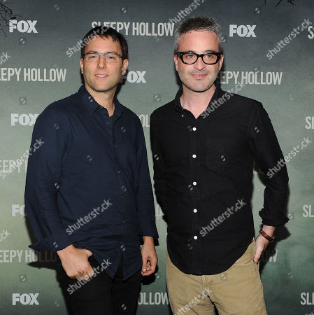 Executive Producers Mark Goffman, left, and Alex Kurtzman attend a special outdoor premiere screening of FOX's 'Sleepy Hollow' at the Hollywood Forever Cemetery in Hollywood, California