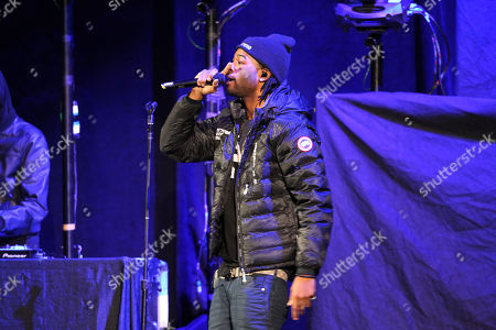 Stock Picture of Party Next Door performing at Philips Arena, in Atlanta